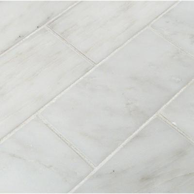 Greecian White 3 in. x 6 in. Polished Marble Floor and Wall Tile (1 sq. ft. / case)