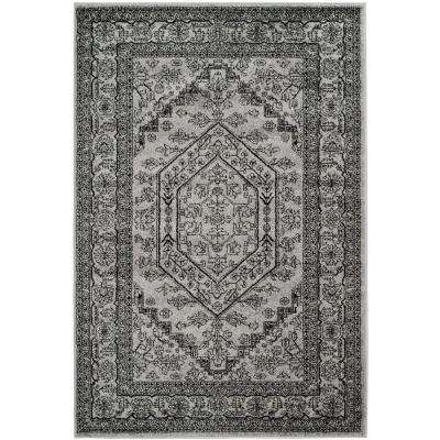 Adirondack Silver/Black 5 ft. 1 in. x 7 ft. 6 in. Area Rug