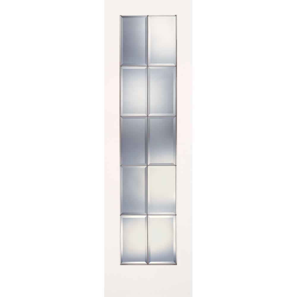Feather River Doors 24 In X 80 In 10 Lite Clear Bevel Zinc Smooth Primed Mdf Interior Door