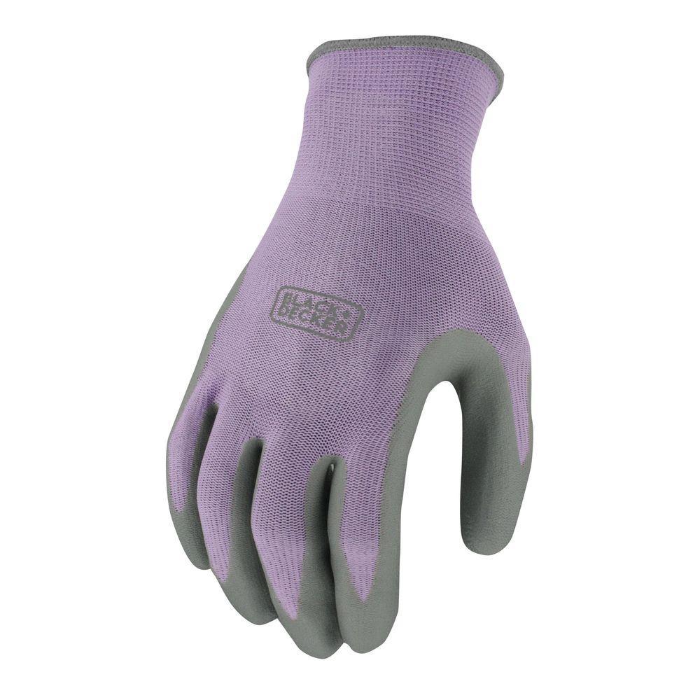 Women's Medium Purple Foam Nitrile Dip Glove
