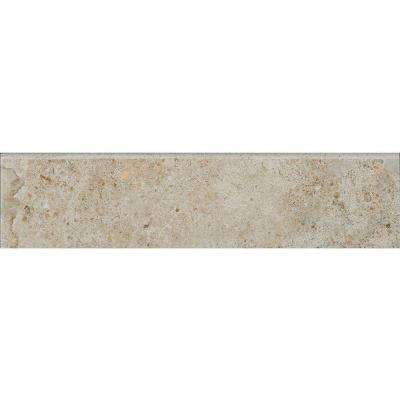 Venetia Grey 3 in. x 12 in. Porcelain Floor and Wall Bullnose Tile
