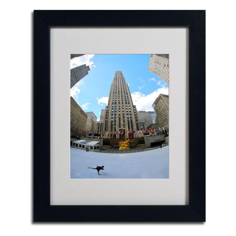 11 in. x 14 in. Rockefeller Center Matted Framed Art