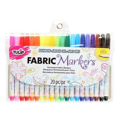 Permanent Nontoxic Fabric Markers (20-Pack)