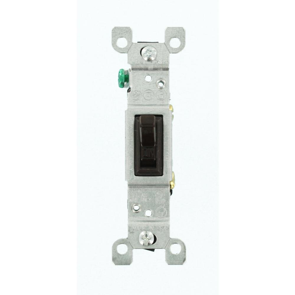 Leviton 15 Amp Residential grade Single-Pole Toggle Switch, Black ...