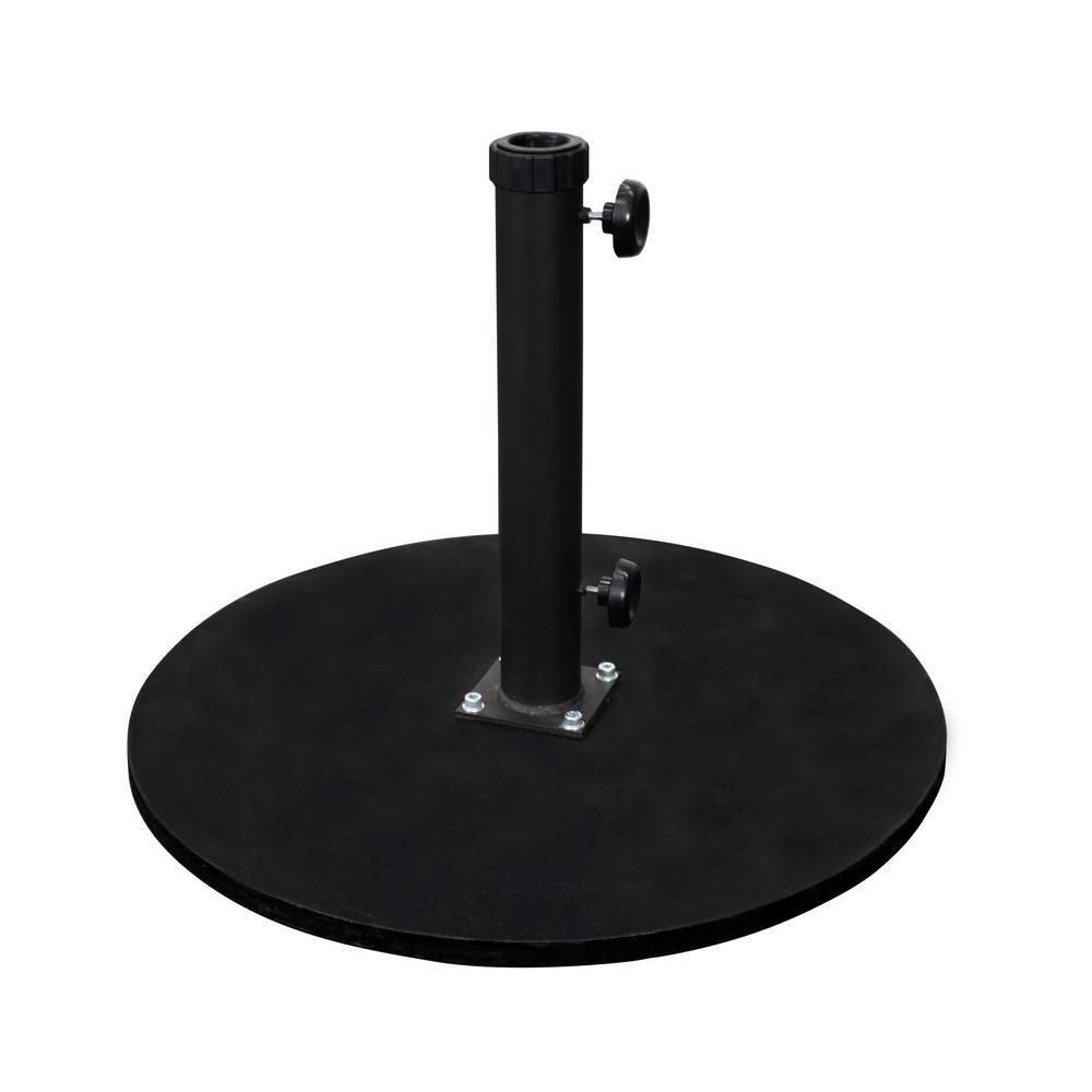 California Umbrella 95 Lb. Cast Iron Round Patio Umbrella Base In Black