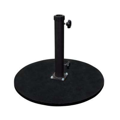 95 lb. Cast Iron Round Patio Umbrella Base in Black