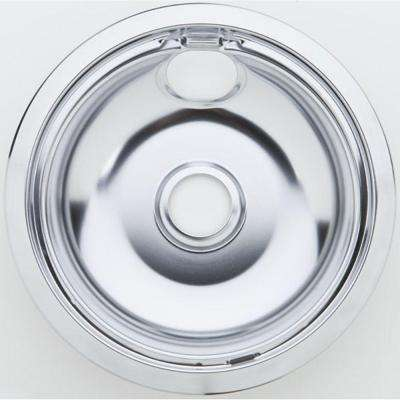 8 in. Chrome Drip Pan for Non-GE Ranges