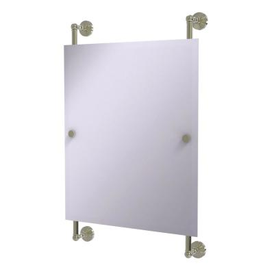 Waverly Place Collection Rectangular Frameless Rail Mounted Mirror in Polished Nickel