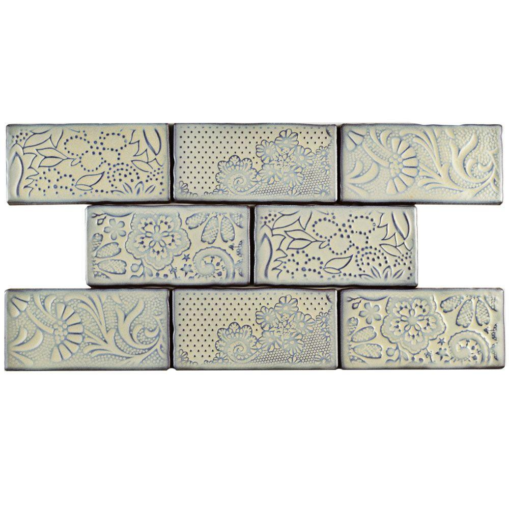 Somertile Merola Tile Antic Feelings Pergamon 3 in. x 6 i...