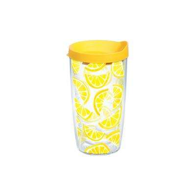 Lemon Trend 16 oz. Clear Tumbler with Lid