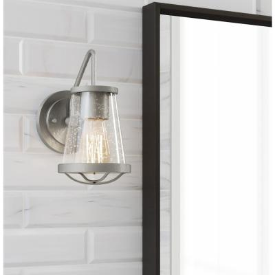 Georgina 1-Light Brushed Nickel Wall Sconce
