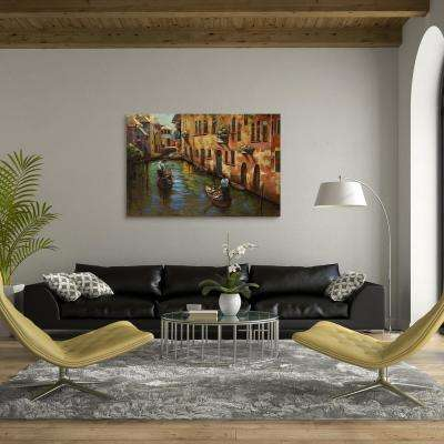 """32 in. X 48 in. """"Venice"""" Mixed Media Iron Hand Painted Dimensional Wall Art"""