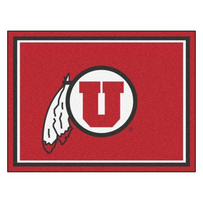 NCAA University of Utah Red 8 ft. x 10 ft. Indoor Area Rug