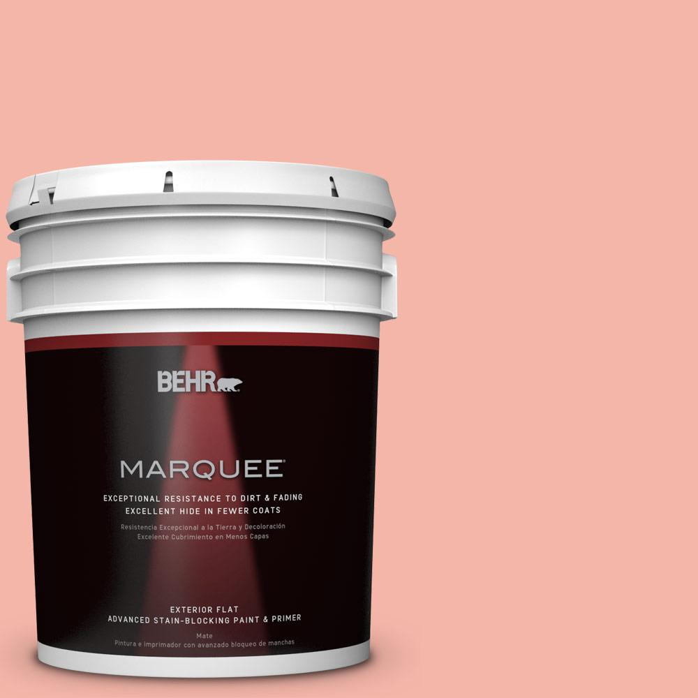 BEHR MARQUEE 5-gal. #P180-3 Pink Mimosa Flat Exterior Paint