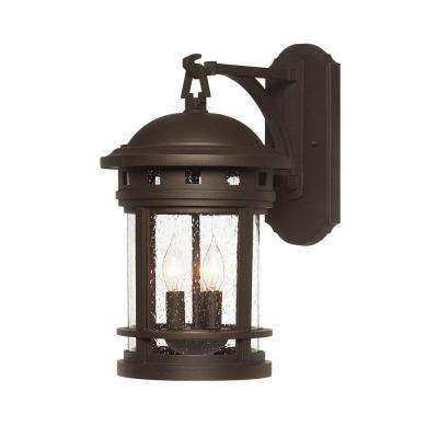 Sedona 3-Light Oil-Rubbed Bronze Outdoor Wall Mount Lantern