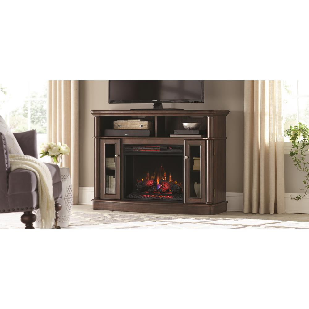 TV Stand Electric Fireplace In Mocha