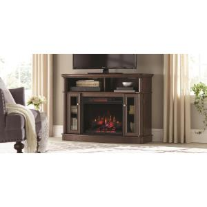 Home Decorators Collection Tolleson 48 inch TV Stand Electric Fireplace in Mocha by Home Decorators Collection