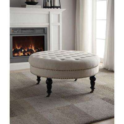 Isabelle Natural Accent Ottoman