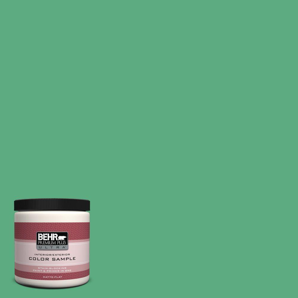 BEHR Premium Plus Ultra 8 oz. #T14-4 Edgewater Flat/Matte Interior/Exterior Paint Sample
