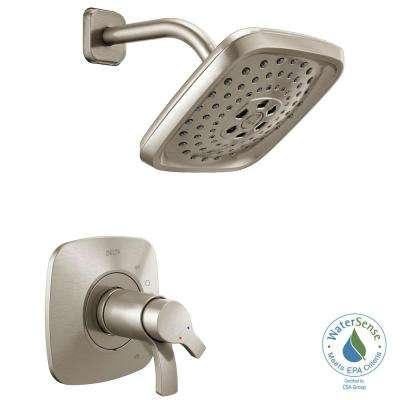 Tesla Single-Handle 3-Spray Shower Faucet Trim Kit in Stainless (Valve Not Included)