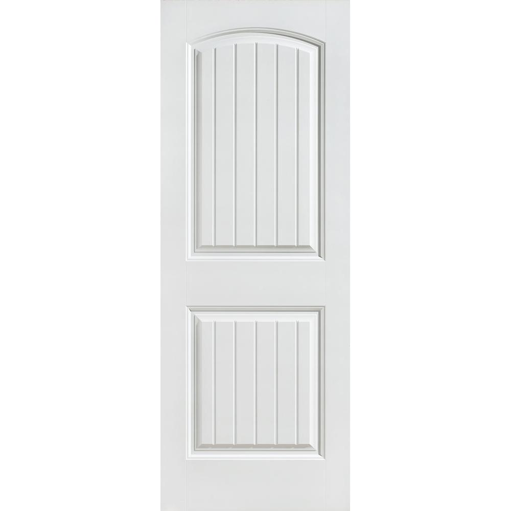 30 in. x 80 in. Primed 2-Panel Cheyenne Hollow Core Composite