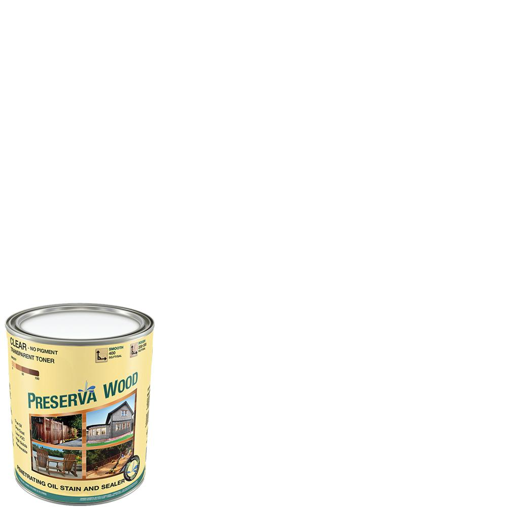 Preserva Wood 1 qt. 100 VOC Oil-Based Clear Penetrating Exterior Stain and Sealer