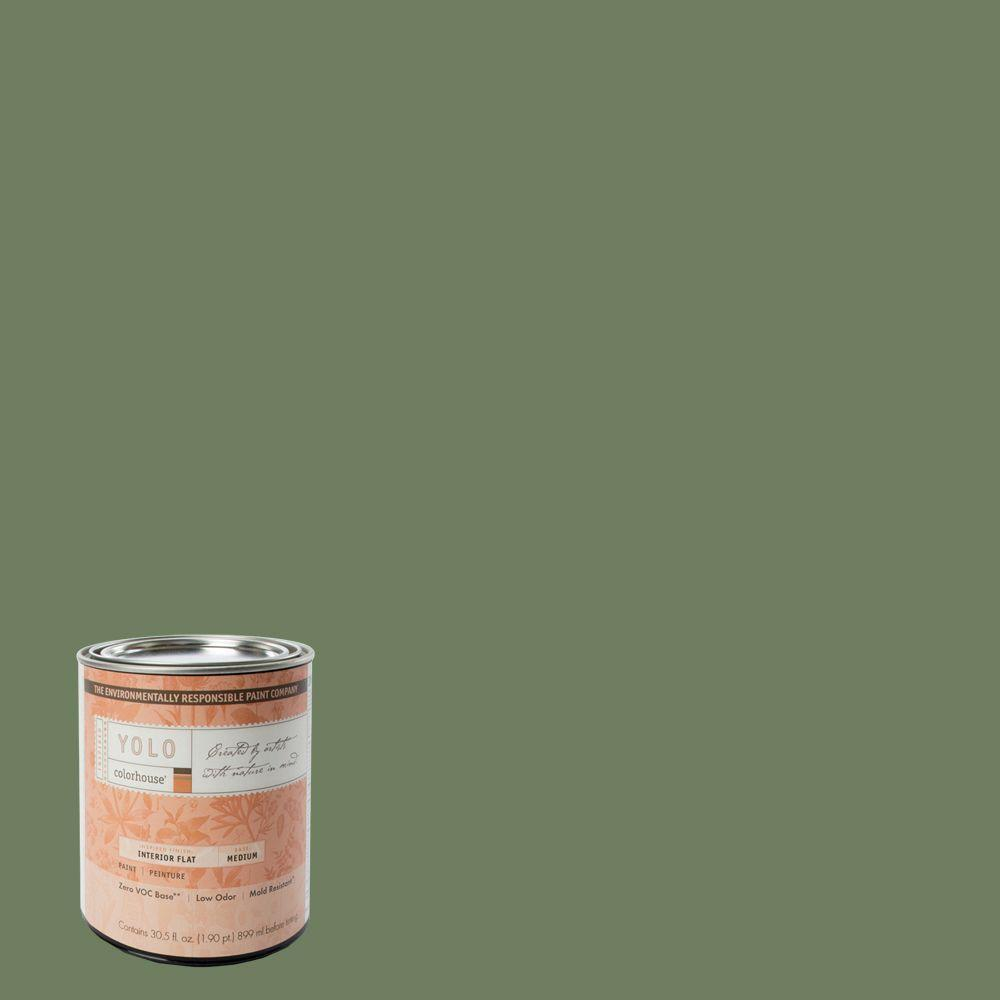 YOLO Colorhouse 1-Qt. Glass .05 Flat Interior Paint-DISCONTINUED