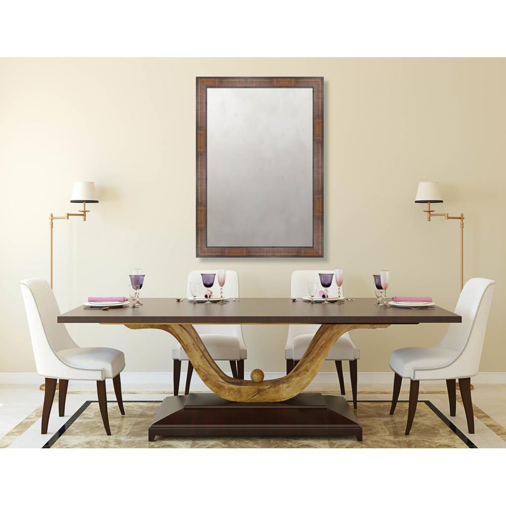 Chatham 28.625 in. x 40.625 in. Mid Century Modern Framed Antique Mirror