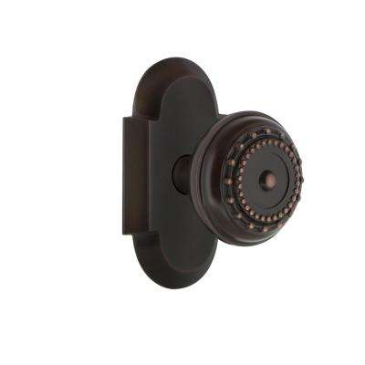 Cottage Plate Double Dummy Meadows Door Knob in Timeless Bronze