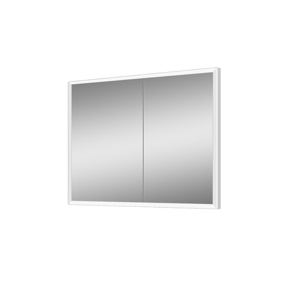 lighted impressions frameless recessed led mirror medicine