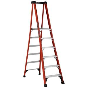 Louisville Ladder 6 ft. Fiberglass Pinnacle Platform Ladder with 375 lbs. Load... by Louisville Ladder