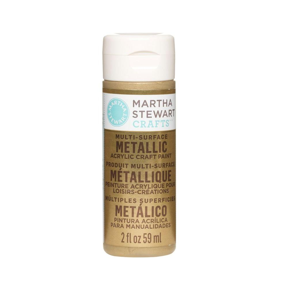 Martha Stewart Crafts 2-oz. Gold Multi-Surface Metallic Acrylic Craft Paint