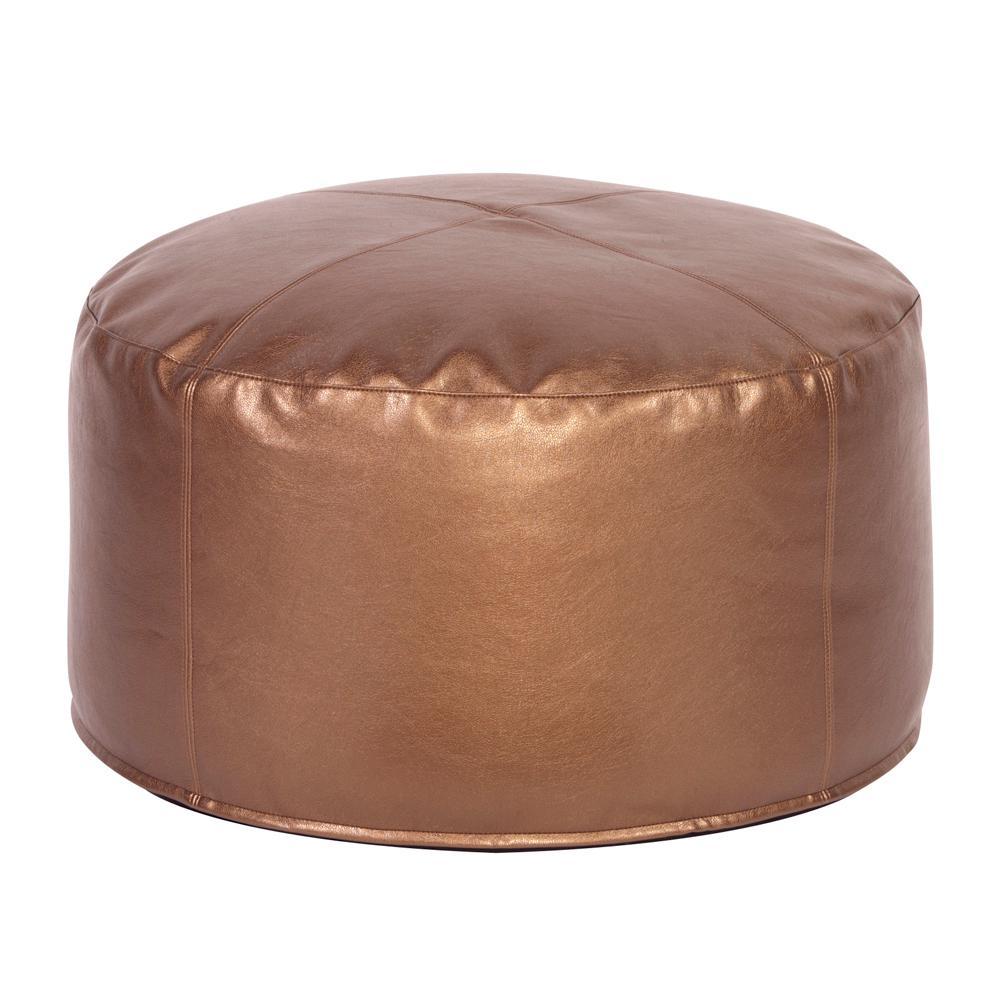 Foot Pouf Shimmer Bronze Ottoman