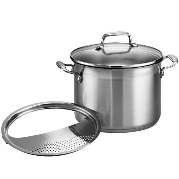 Gourmet 6 qt. Stainless Steel Stock Pot with Glass Lid