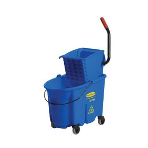 Rubbermaid Wave Brake 35 Qt. Mop Bucket and Side-Press Blue Wringer Combo by Rubbermaid