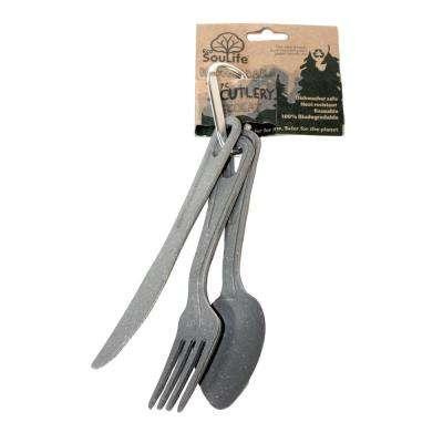 Bamboo 3-Piece Charcoal Cutlery (3-Pack)