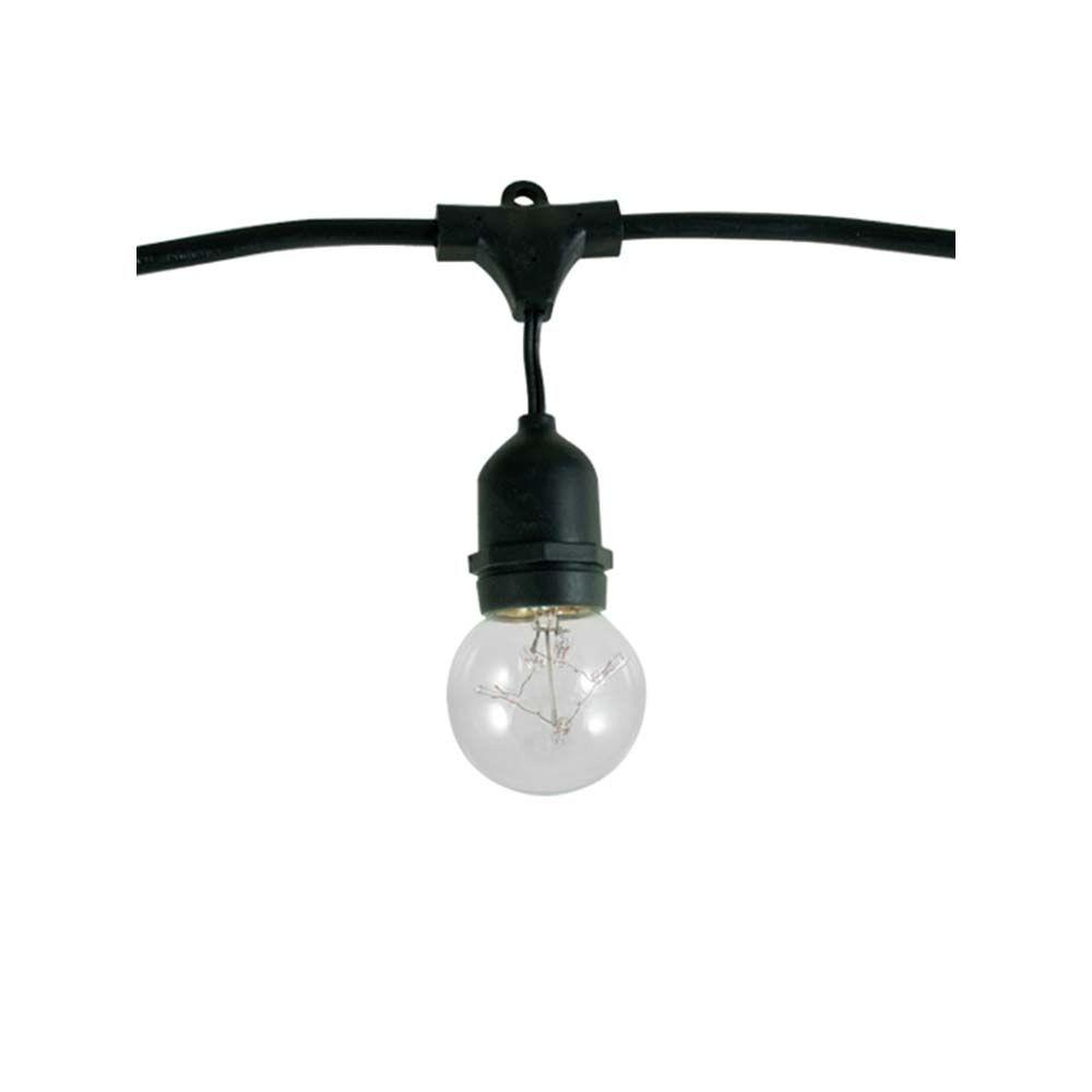 Bulbrite 15-Light Outdoor Black String Light Set