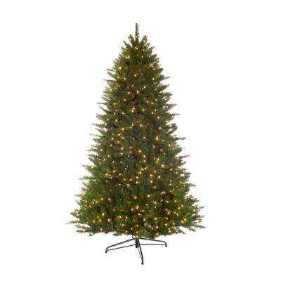 7.5 ft. Pre-Lit Incandescent Miracle Shape Hamilton Spruce Artificial Christmas Tree with 800 UL Clear Lights
