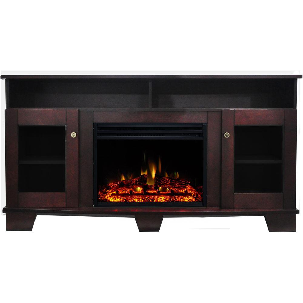 Cambridge Savona 59 In Electric Fireplace Heater Tv Stand In
