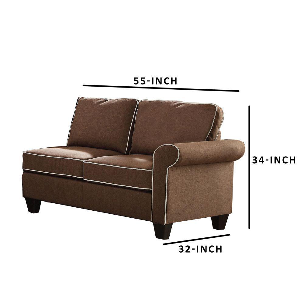 Fantastic Benzara Modular Chocolate Love Seat Bm161513 The Home Depot Unemploymentrelief Wooden Chair Designs For Living Room Unemploymentrelieforg