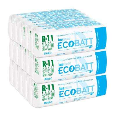 R-11 Kraft-Faced Fiberglass Insulation EcoBatt 3-1/2 in. x 15 in. x 93 in. (15-Bags)