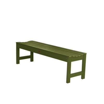 Lehigh 60 in. 2-Person Dried Sage Recycled Plastic Outdoor Picnic Bench