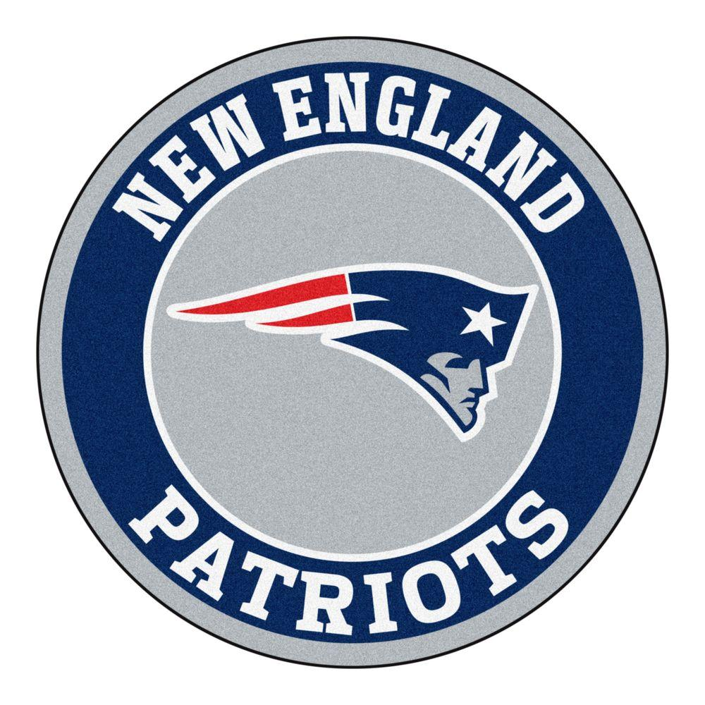 Fanmats Nfl New England Patriots Navy 2 Ft X 2 Ft Round