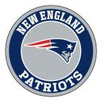 NFL New England Patriots Navy 2 ft. x 2 ft. Round Area Rug