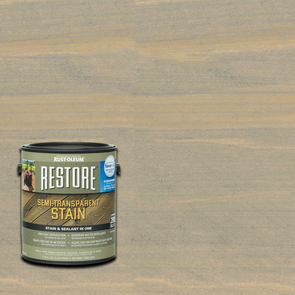 Rust-Oleum Restore 1 gal. Semi-Transparent Stain Taupe with NeverWet