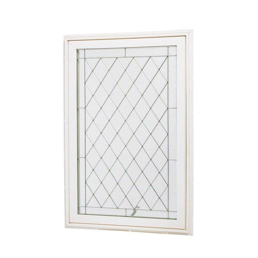 Tafco windows 31 5 in x 47 5 in awning vinyl window for Window home depot