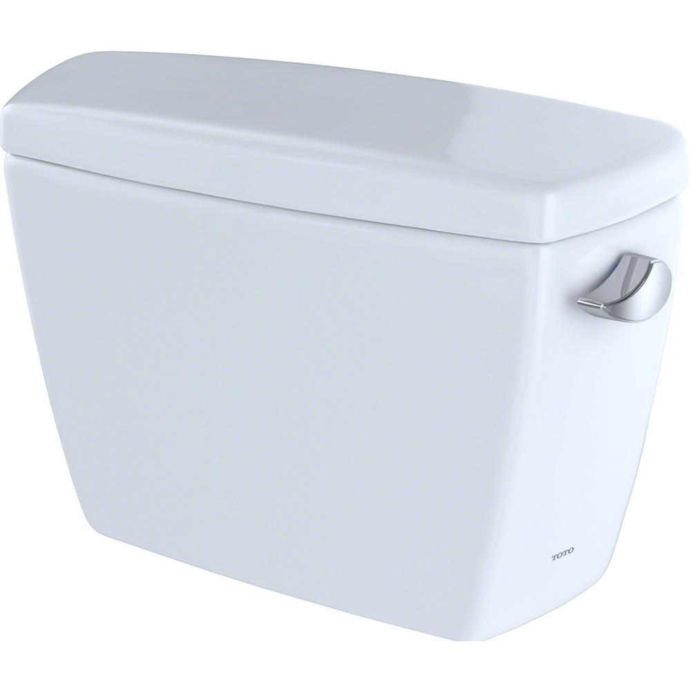 TOTO Eco Drake 1.28 GPF Single Flush Toilet Tank Only with Right Hand Trip Lever in Cotton White