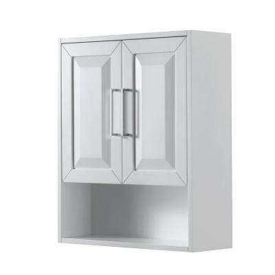 Daria 25 in. W x 30 in. H x 9 in. D Bathroom Storage Wall Cabinet in White