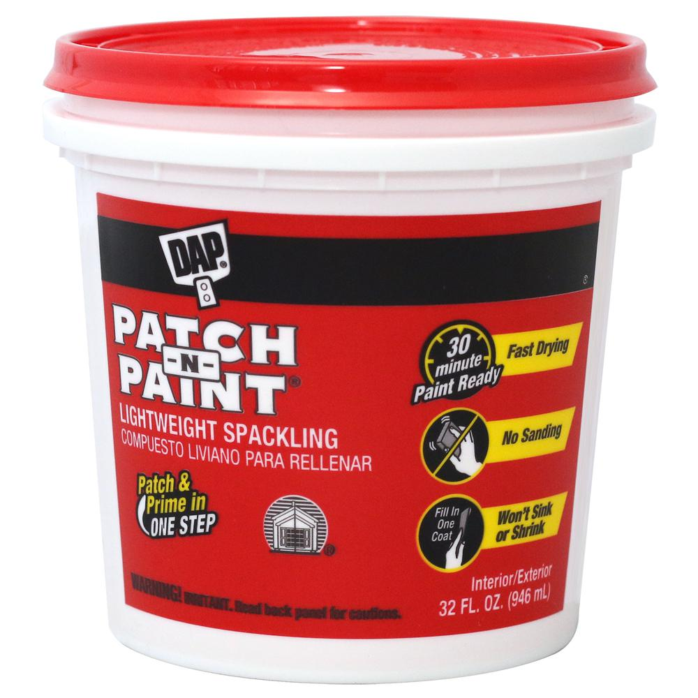 DAP Patch-N-Paint 32 oz  Premium-Grade Lightweight Spackling