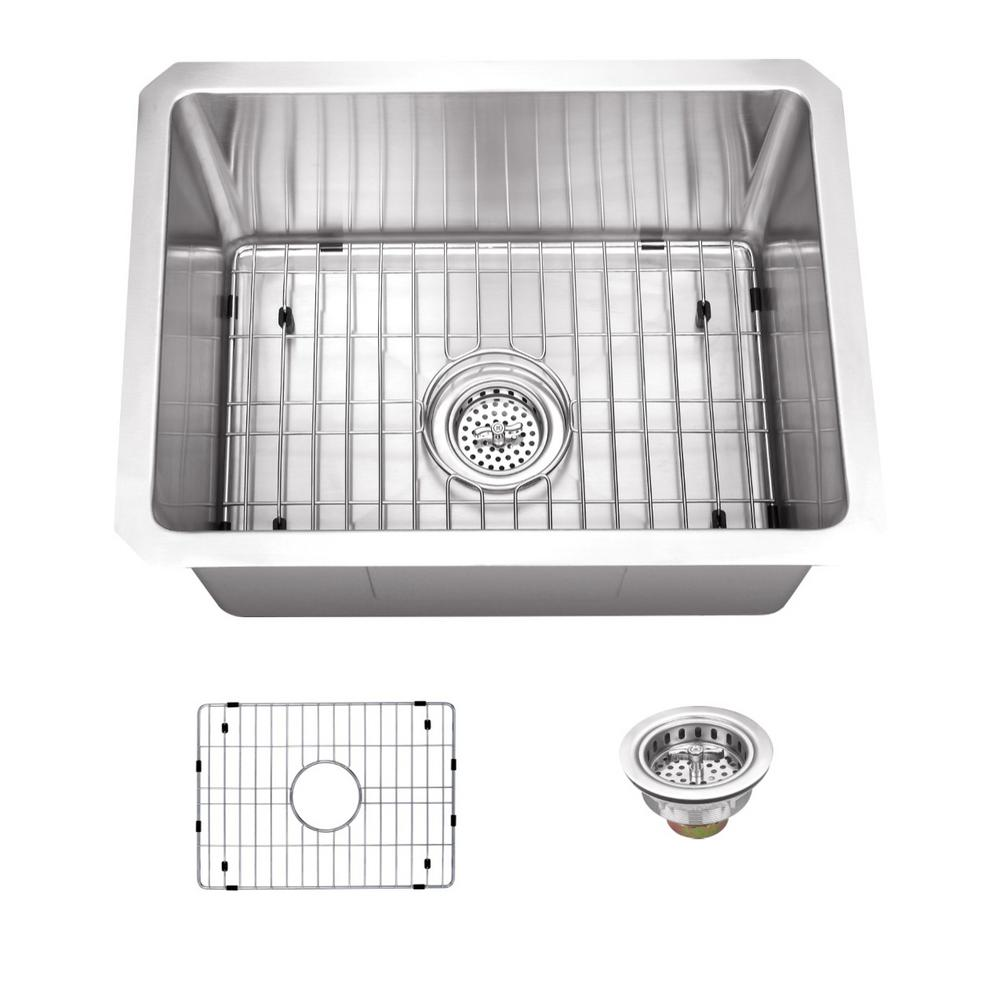Schon All-in-One Undermount Stainless Steel 15 in. 0-Hole Single Bowl Kitchen Sink, Satin Brush was $239.4 now $179.0 (25.0% off)